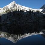 Pic de bastan et neige