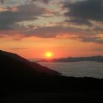 coucher soleil mer de nuage