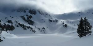 Lac supérieur et col de bastan en hiver
